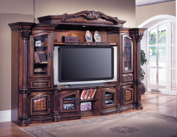 Grandview 4 pc Entertainment Center-Parker House