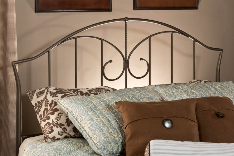 Zurick Headboard - Astroid Pewter