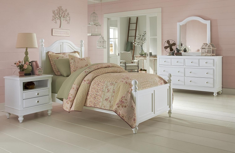 Lake House Payton Arch Bedroom Set - White