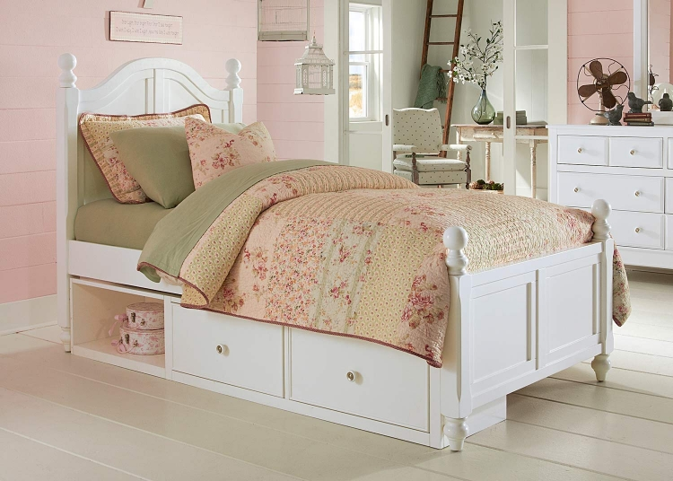 Lake House Payton Arch Bed With Storage - White