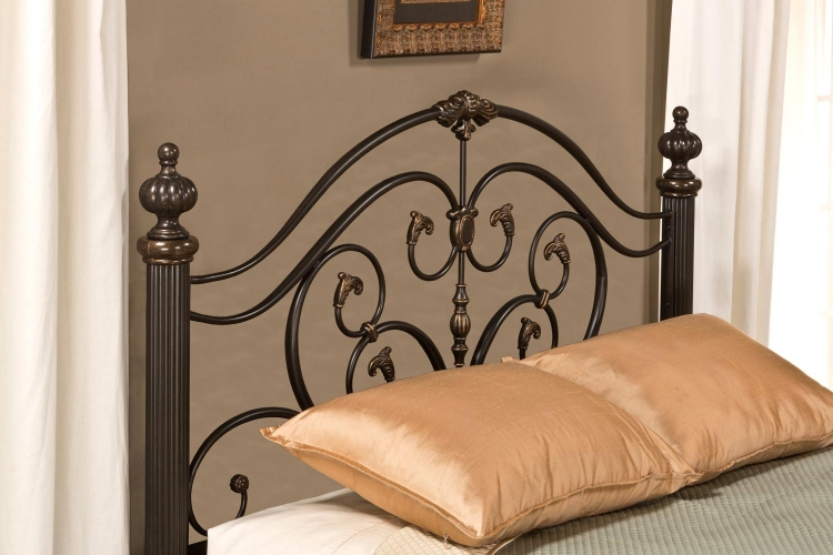 Grand Isle Headboard - Brushed Bronze
