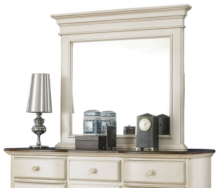 Pine Island Mirror for Mule Dresser - Old White