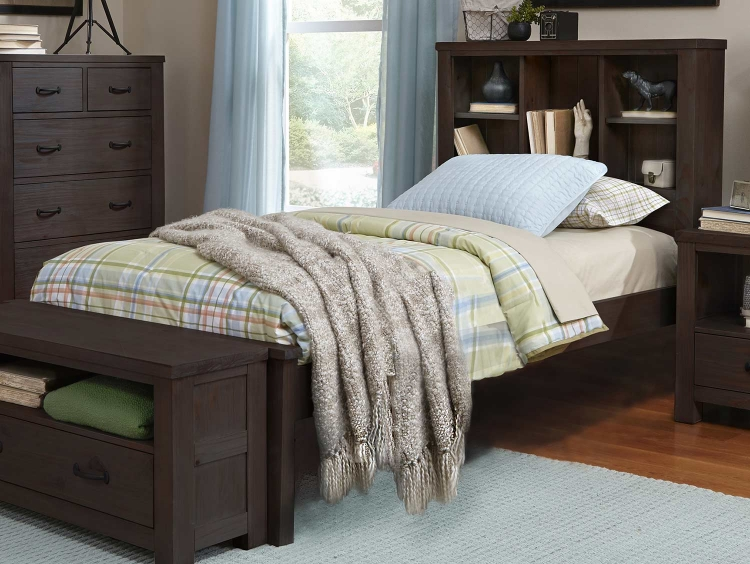 Highlands Bookcase Bed - Espresso