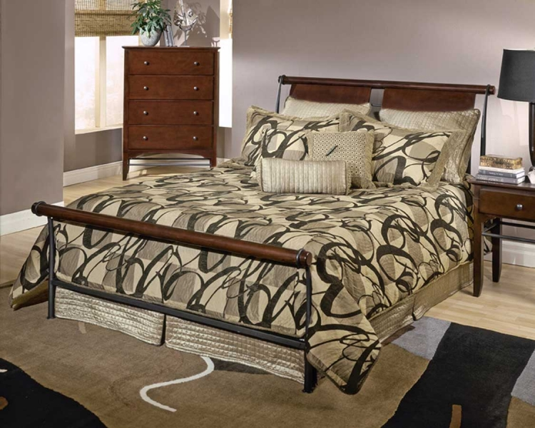 Mid-town Sleigh Bed