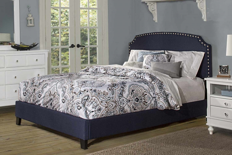 Lani Bed - Navy Linen