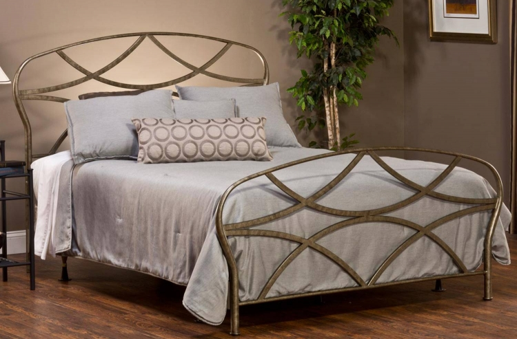Landon Bed - Brushed Silver - Hillsdale