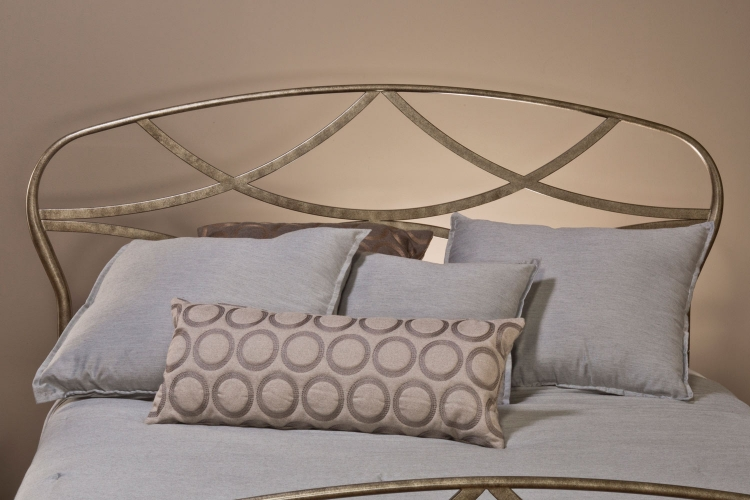 Landon Headboard - Brushed Silver - Hillsdale