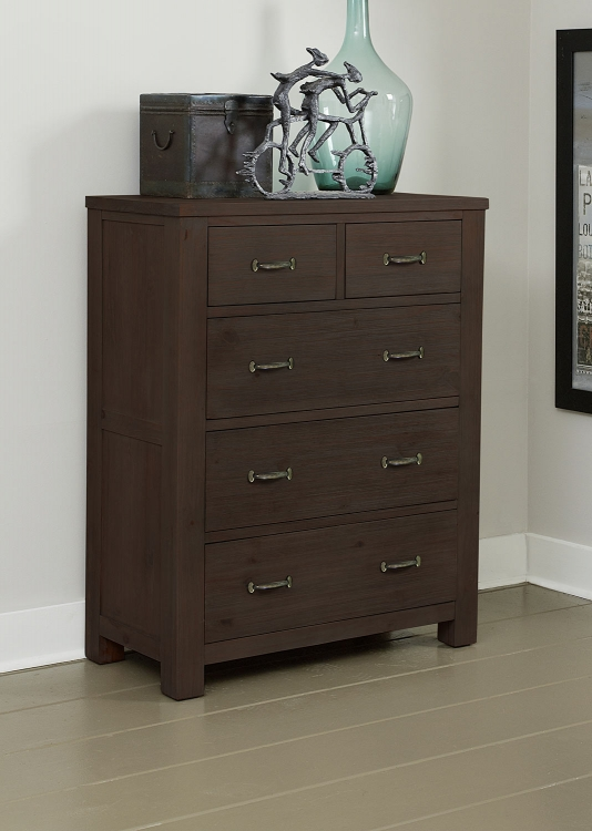 Highlands 5 Drawer Chest - Espresso