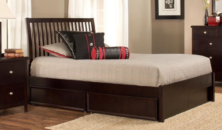 Metro Liza Storage Bed - Dark Espresso