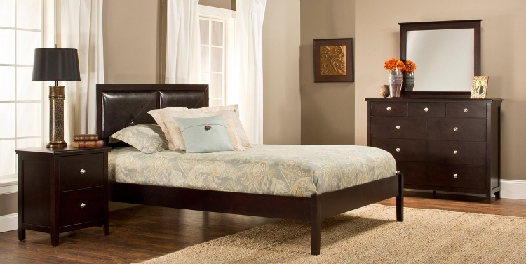 Metro Martin Platform Bedroom Collection - Dark Espresso