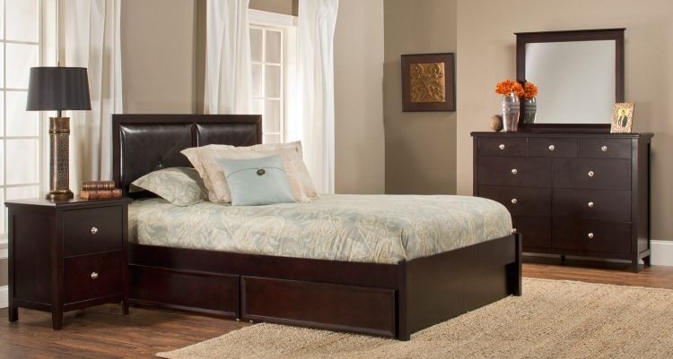Metro Martin Storage Bedroom Collection - Dark Espresso