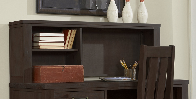 NE Kids Highlands Desk Hutch - Espresso