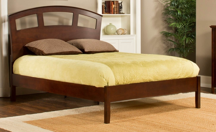 Metro Riva Platform Bed - Cherry
