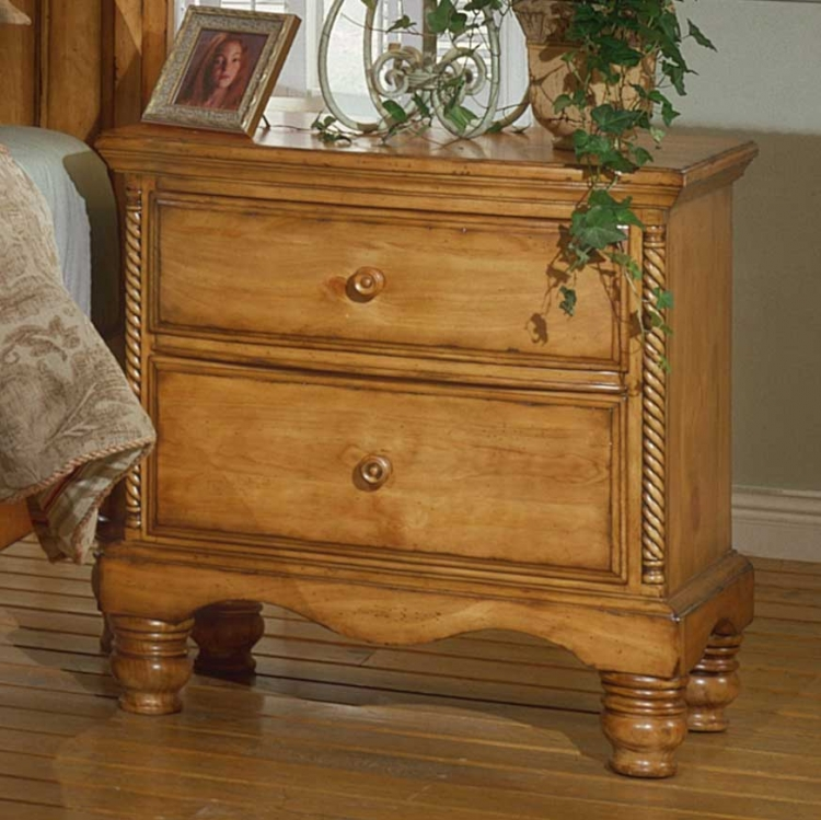 Wilshire Night Stand - Antique Pine