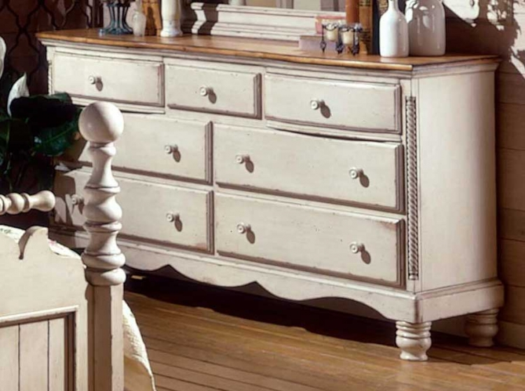 Wilshire Dresser - Antique White