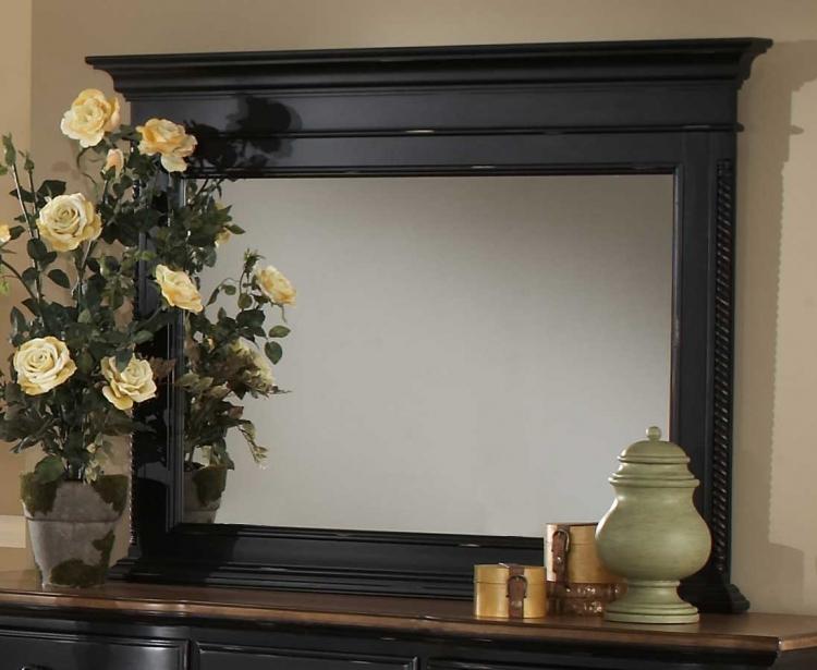 Wilshire Mirror - Rubbed Black