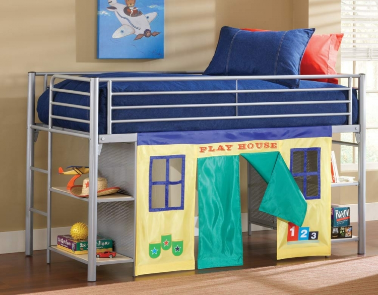 Universal Youth Junior Loft Bed With Bookcase Sides - Hillsdale
