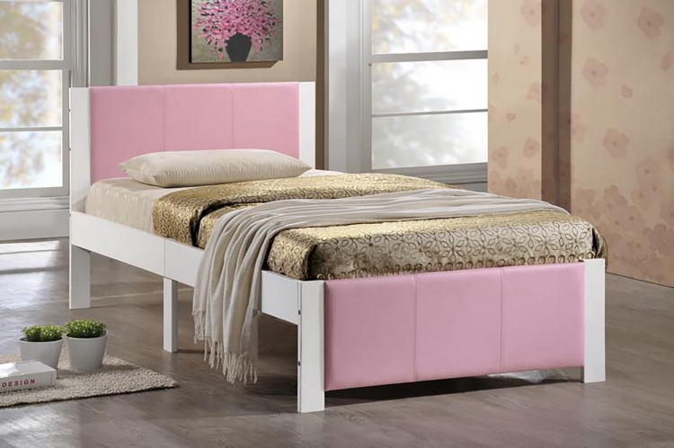 Ventura Twin Bed - White - Pink