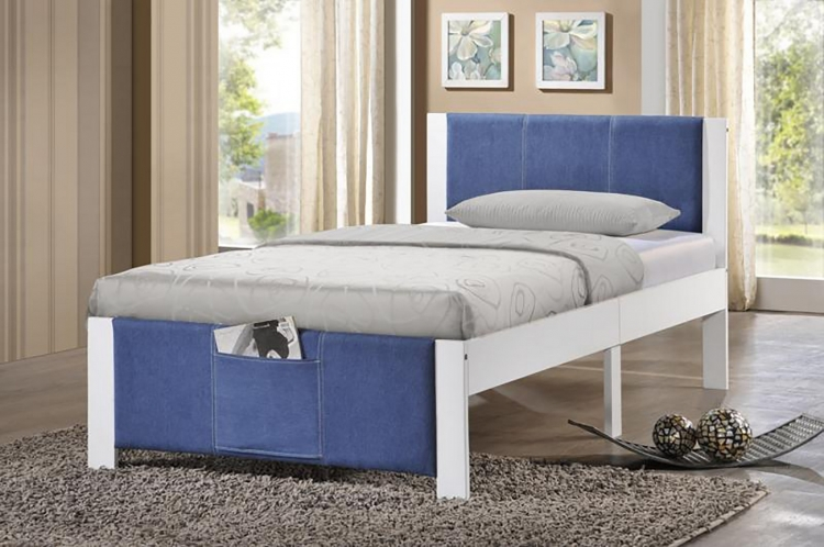 Ventura Twin Bed - White - Denim