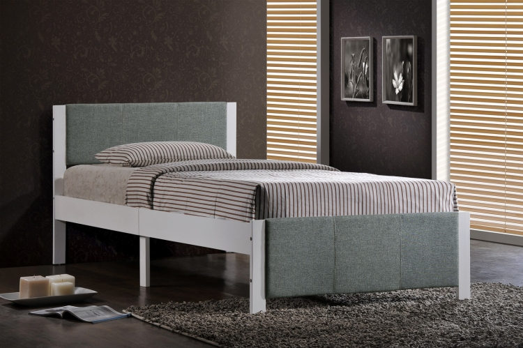 Ventura Twin Bed - White - Grey
