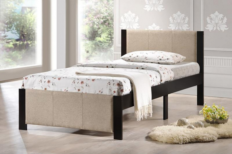 Ventura Twin Bed - Espresso - Cream