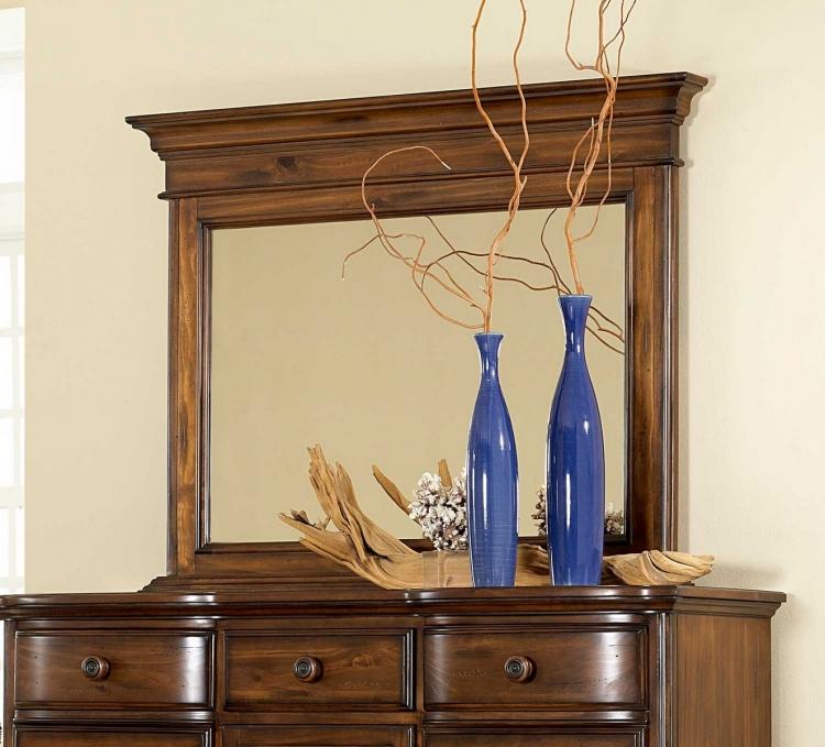 Pine Island Mule Dresser Mirror - Dark Pine