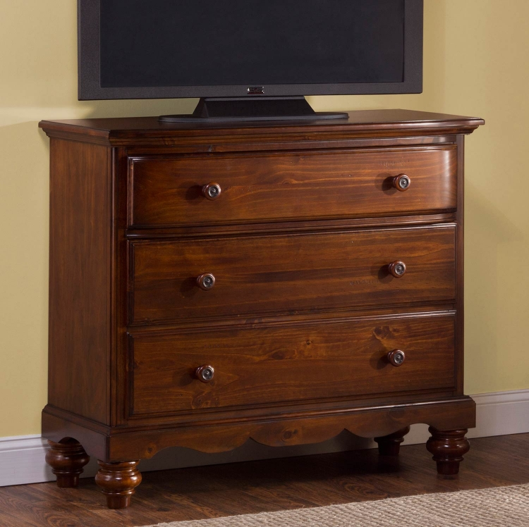 Pine Island TV Chest - Dark Pine