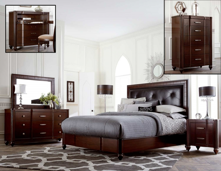Roma Bedroom Set - Espresso Cherry