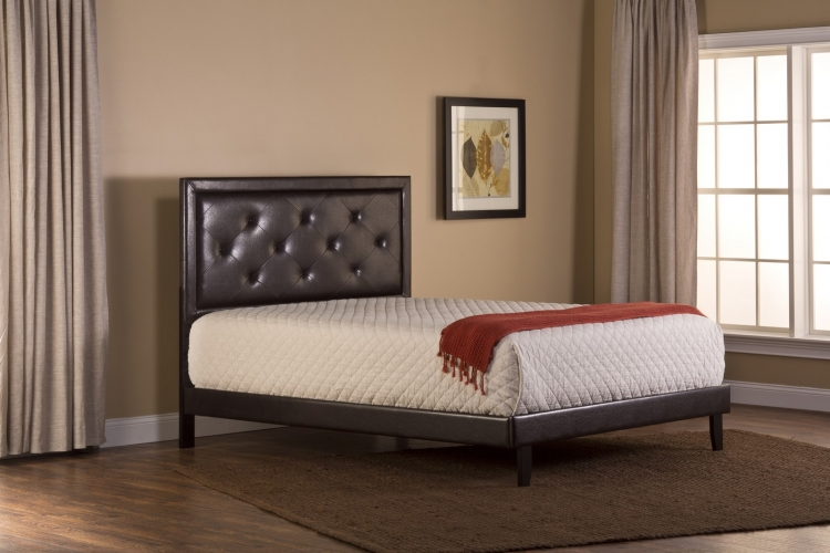 Becker Bed - Brown Faux Leather