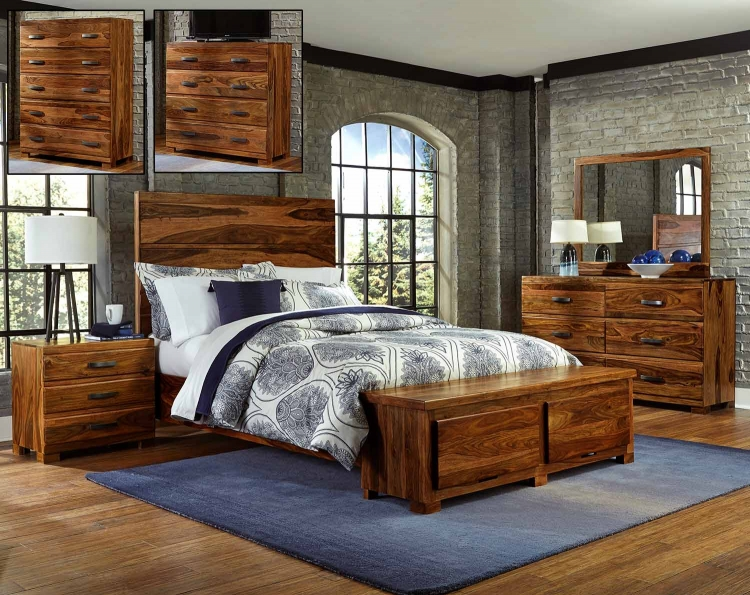 Madera Storage Bedroom Set - Natural