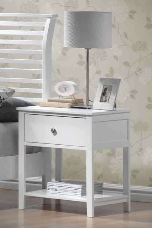 Dio Large Nightstand White Finish