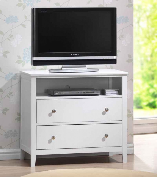 Dio TV Chest White Finish