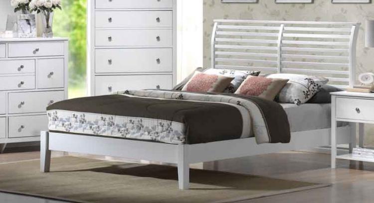 Dio White Bed