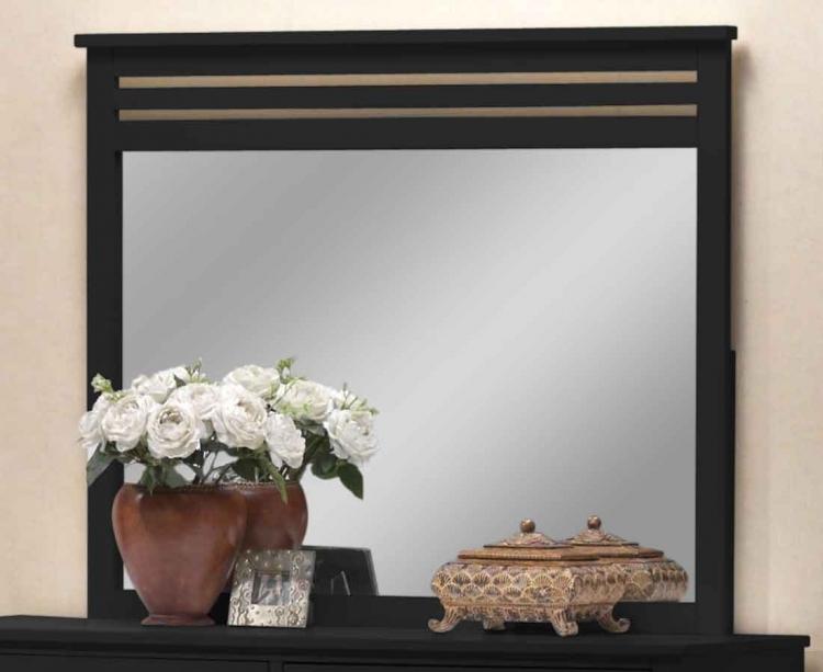 Dio Wood Mirror Black Finish