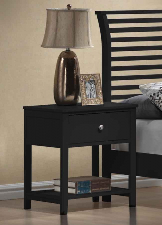 Dio Large Nightstand Black Finish