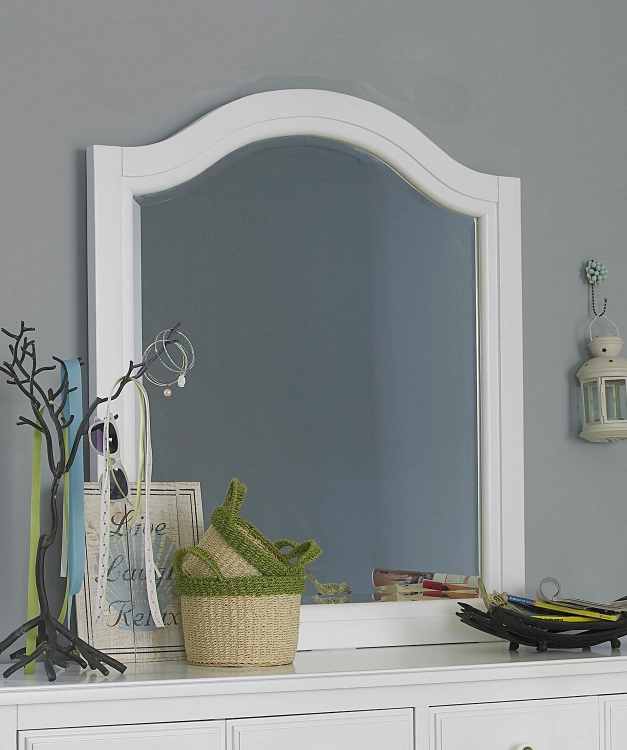 Lake House Arched Mirror - White