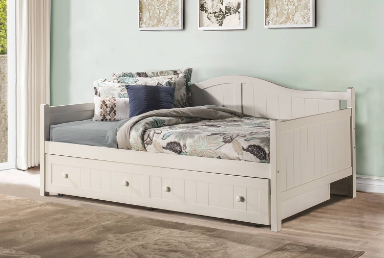 Staci Daybed with Trundle - Full - White
