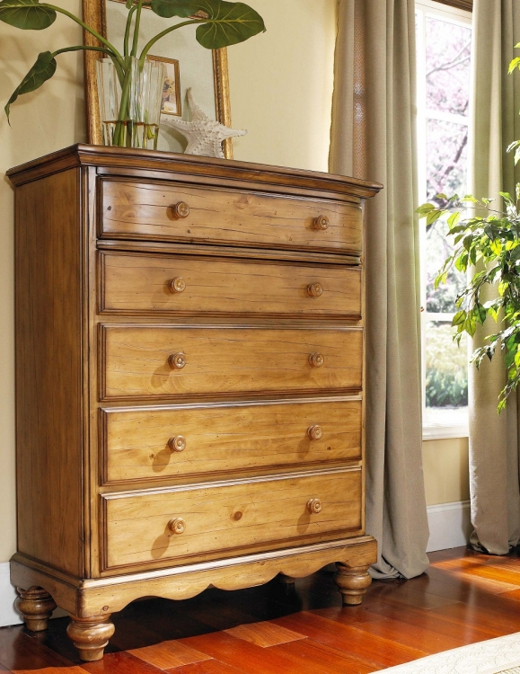 Hamptons Chest - Weathered Pine - Hillsdale
