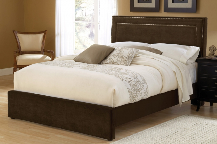 Amber Fabric Bed - Chocolate - Hillsdale