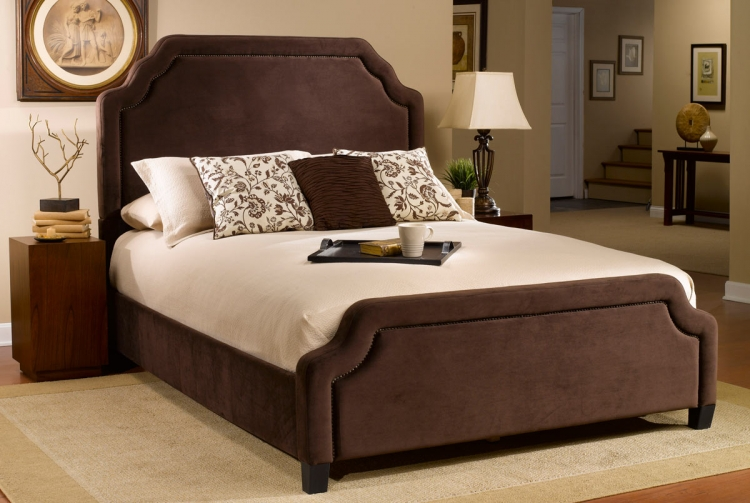 Carlyle Fabric Bed - Chocolate