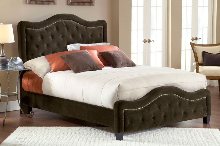 Trieste Fabric Bed - Chocolate