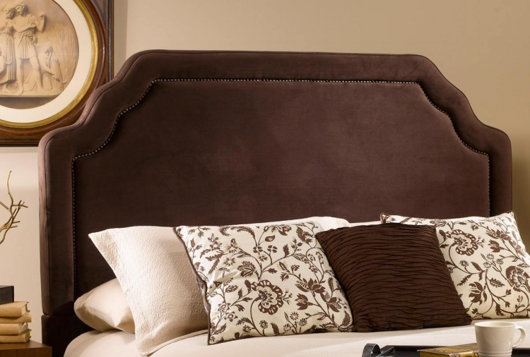 Carlyle Fabric Headboard - Chocolate - Hillsdale
