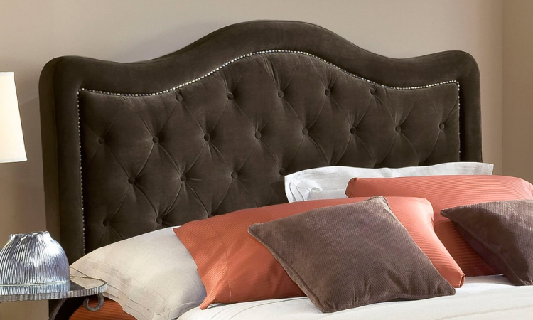 Trieste Fabric Headboard - Chocolate - Hillsdale