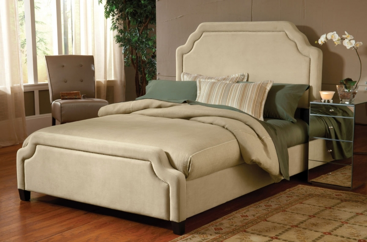 Carlyle Fabric Bed - Buckwheat - Hillsdale