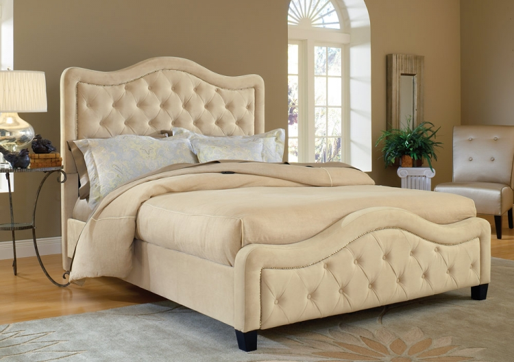 Trieste Fabric Bed - Buckwheat