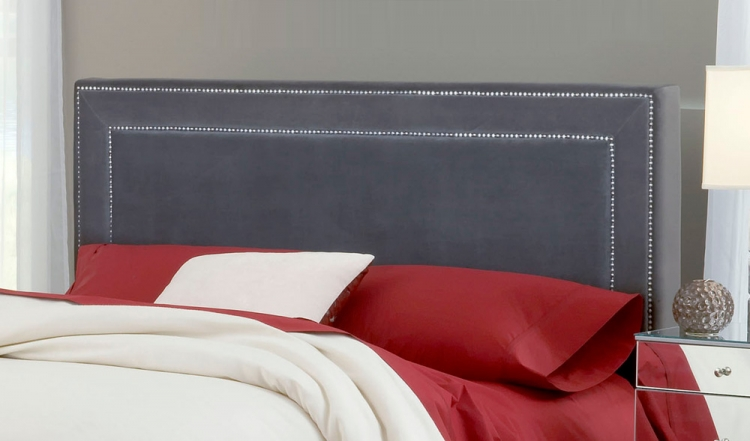 Amber Fabric Headboard - Pewter