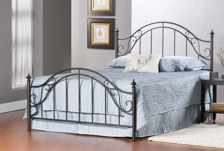 Clayton Bed - Matte Brown - Hillsdale