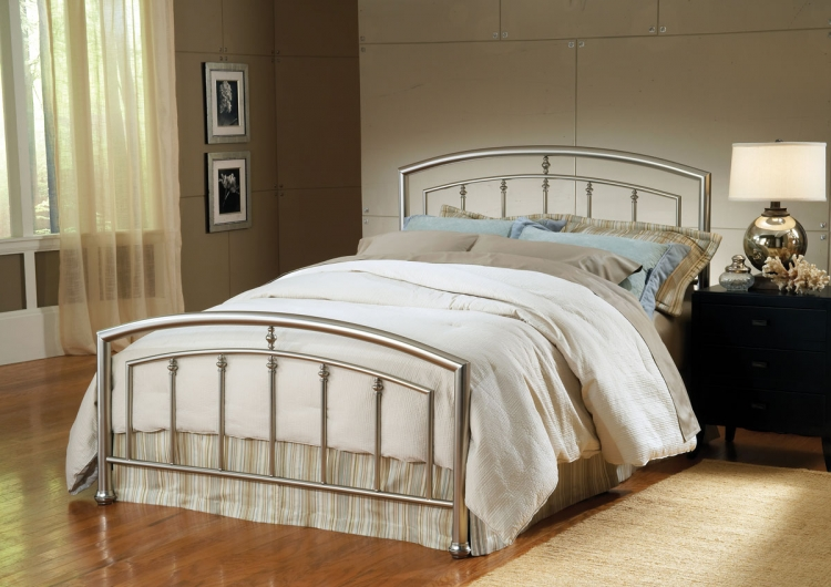 Claudia Bed - Matte Nickel - Hillsdale
