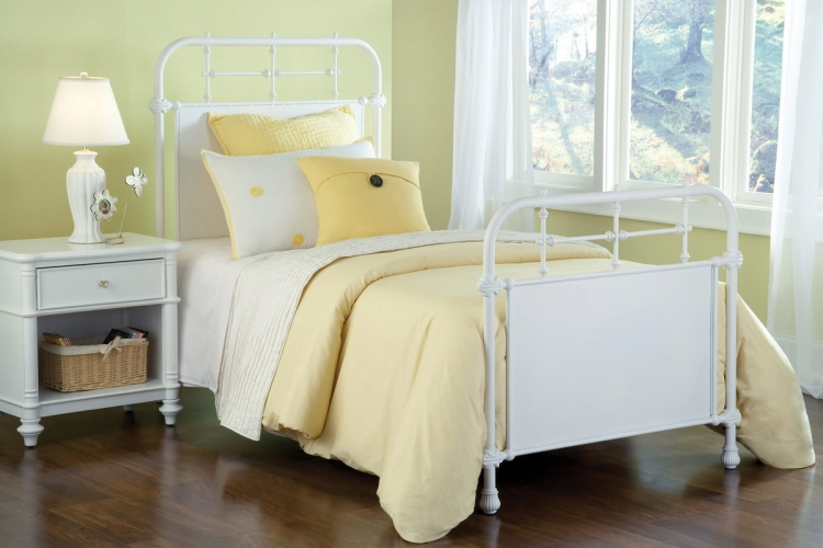 Kensington Bed - Textured White - Hillsdale