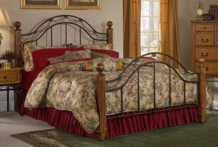 Camelot Oak Wooden Post Bed